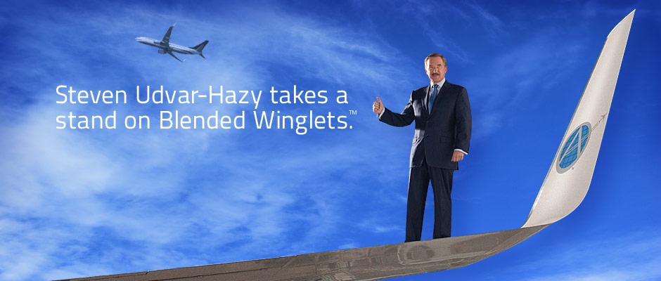 Steven Udvar-Hazy takes a stand on Blended Winglets.