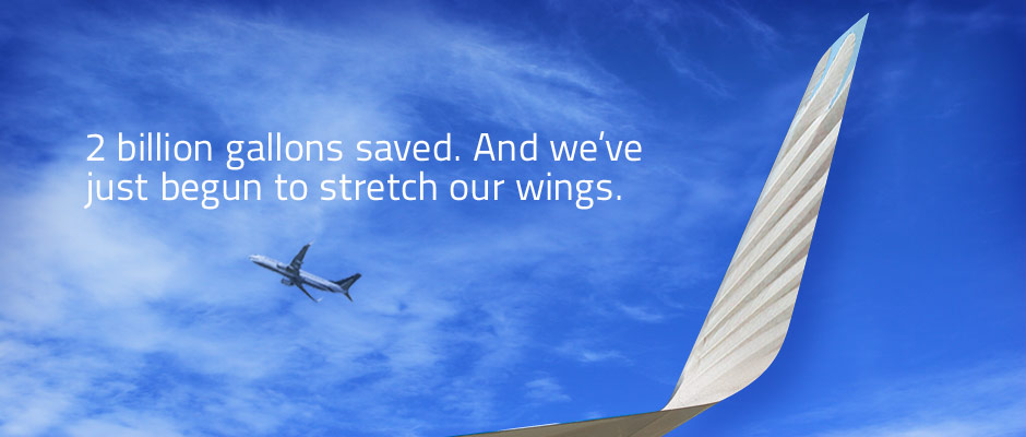 2 billion gallons saved. And we've just begun to stretch our wings.
