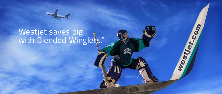 Westjet saves big with Blended Winglets.