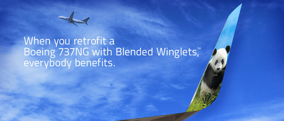 When you retrofit a Boeing 737NG with Blended Winglets, everybody benefits.
